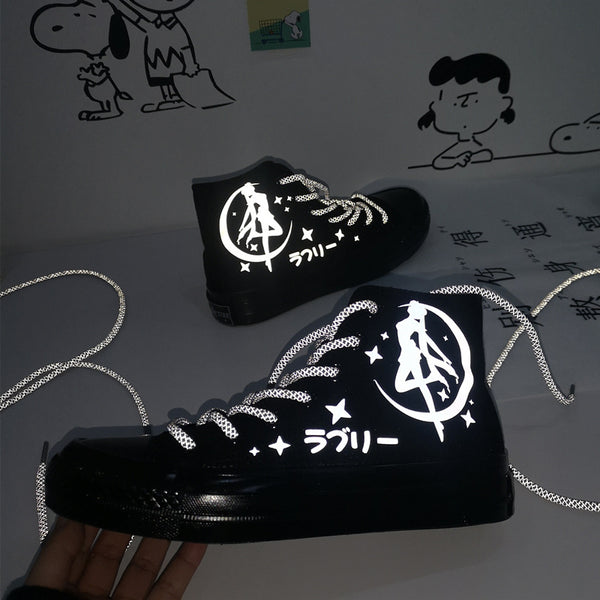Sailor Moon Reflective Canvas Shoes AD11024