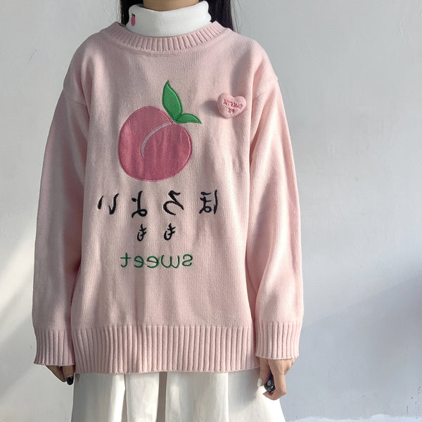 Peaches Sweater Pullover AD11456