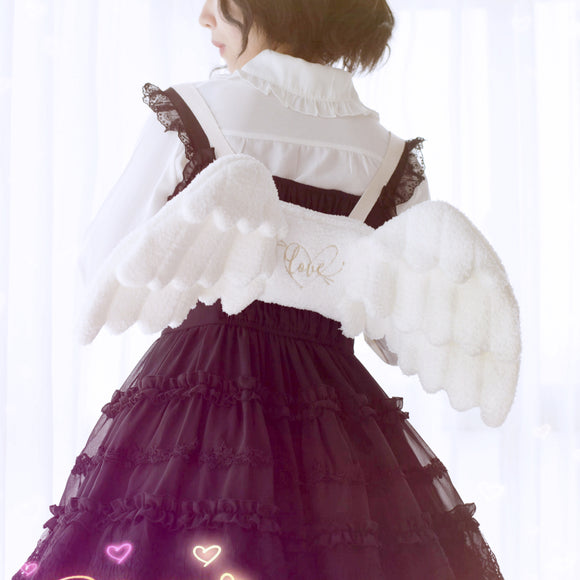 Lolita Angel Wings Plush Backpack AD10337