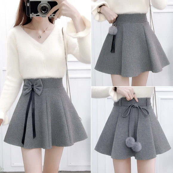 Sweet Woolen Skirt / Sweater AD12827