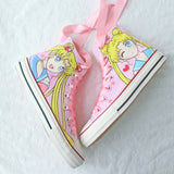 Pink Sailor Moon Hand-painted Shoes AD11035
