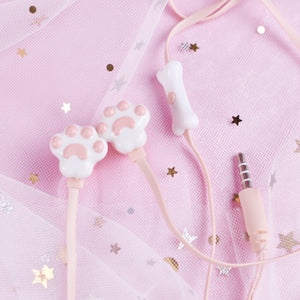Cartoon Cat's Paw Phone In-Ear Headset/Earbuds AD10377