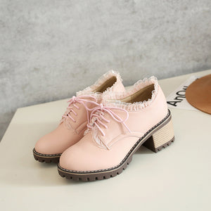 Sweet Lace Student Shoes AD11294