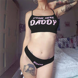 Daddy Printing Lingerie Outfit AD10911