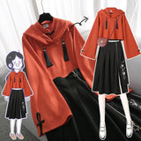 Fashioned Hoodie With Skirt Suit AD12631