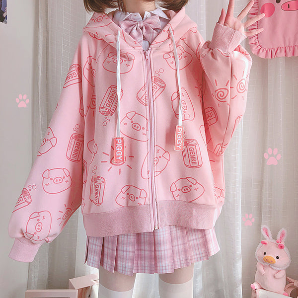 Kawaii Piggy Coat AD210001