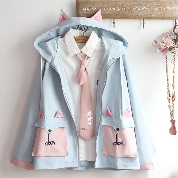 Japanese Cat Ear Hoodie Jacket AD12174