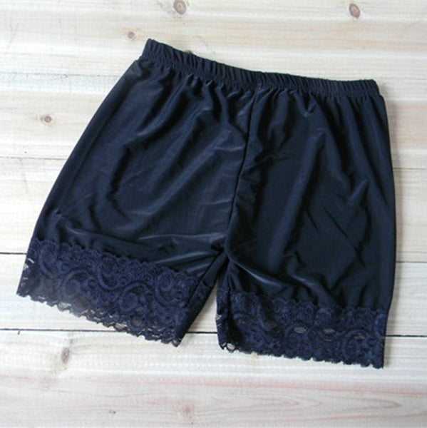 Black/White Lace Safety Shorts AD10173