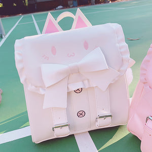 Japanese Cute Cat Bow Backpack AD11781