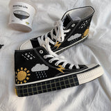Ulzzang Graffiti Canvas Shoes AD10835