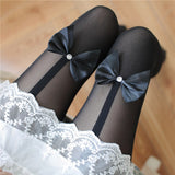 Sweet Bow Splicing Pantyhose AD10143