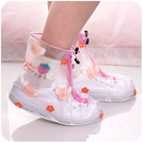 Cute Transparent Festival Feet Red AD11469