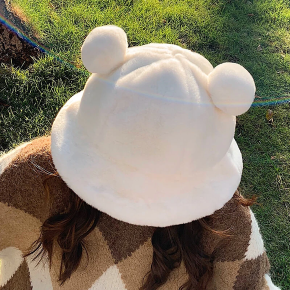 Plush Bear Ear Hat AD12615