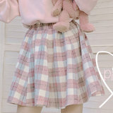 Grid Woolen Skirt AD12570