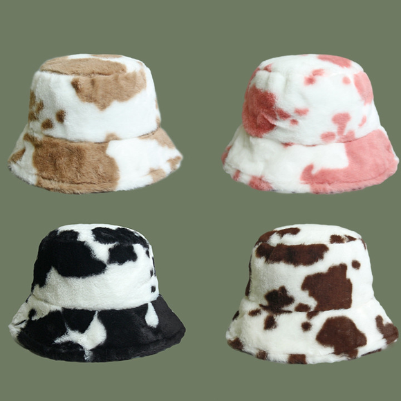 Cow Plush Hat AD12743