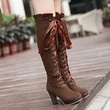 Korean Sweet Lace High Boots AD3220