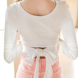 Fashion Bow Long-Sleeved T-shirt AD0328