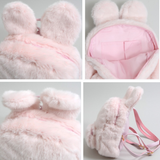 Cute Fuzzy Bunny Backpack AD10010