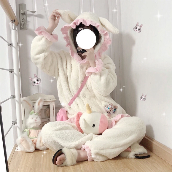 Cute Rabbit Ear Pajamas Set AD12815
