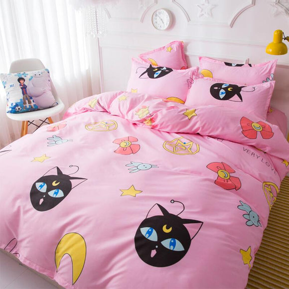 Pink Sailor Moon Luna Bedding Sheet AD10160