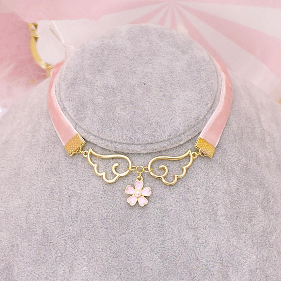 Pink Wings Sakura Necklace AD10120