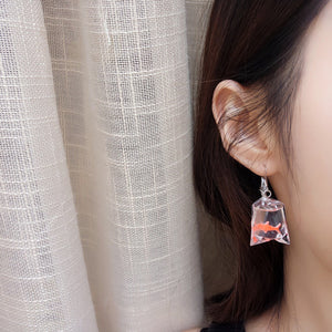 Cute Fish Water Bag Earrings AD10278