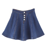 Students Tall Waist Denim Skort AD10002