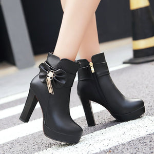 Sweet Bowknot High Heel Boots AD10128