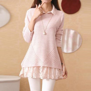 Sweet Lace Sweater Two-Piece AD10216