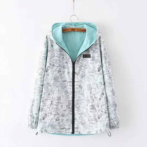 Candy Reversible Hooded Jacket AD0038