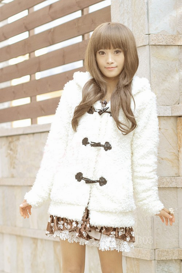 Cute Rabbit Ears Plush Coat AD0144
