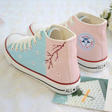 Graffiti Floral Canvas Shoes AD10047