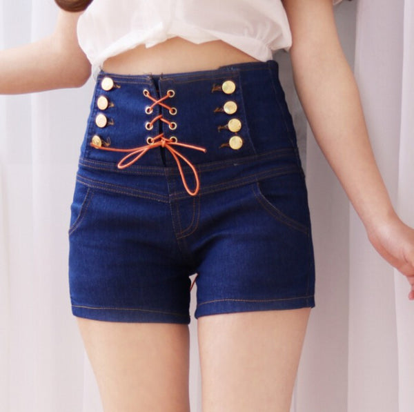 Fashion Tall Waist Jeans Shorts AD0052
