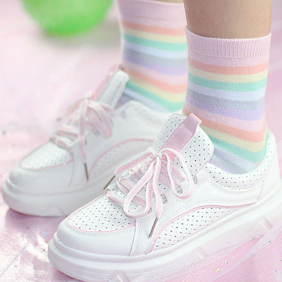 Kawaii Girl Rainbow Socks AD10470