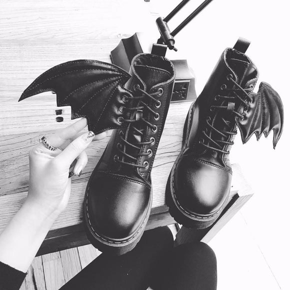 Harajuku Demon Wings Boots AD0171