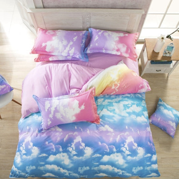 Galaxy Bed Sheet 4 Pieces  AD0149