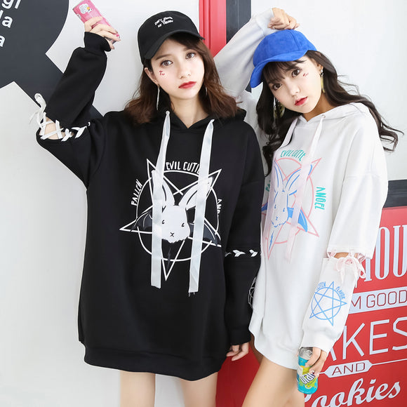 Bunny Hoodie Pullover AD0131