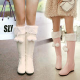 Pink/White Sweet Bow Heels AD10256
