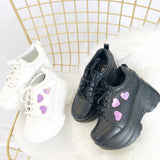 Retro Heart Laser Platform Shoes AD10238