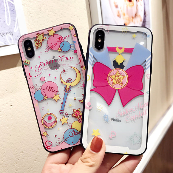 Sailor Moon Bowknot Transparent Iphone Case AD10371