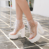 Transparent High-heeled Platform Boots AD11727