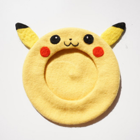 Pokémon Kawaii Yellow Woollen Beret AD10288