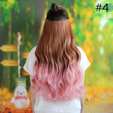 Gradient Color Clip-On Hair Wig AD10104