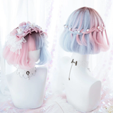 Blue Pink Purple Gradient Lolita Wig AD20005