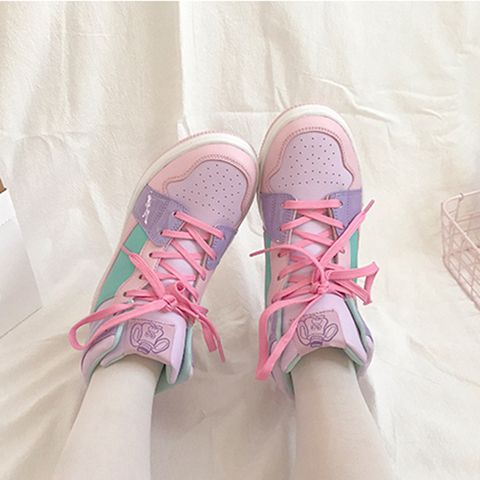 Chic Macarons High-Top Sneakers AD10240