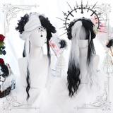 Lolita Black And White Color Matching Wig AD11192
