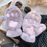 Fuzzy Kitty Paw Gloves AD10602