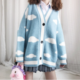 Blue Sky Cloud Sweater Coat AD10466