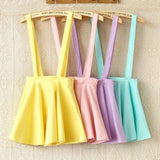 Candy Color Ice Cream Suspenders Skirt AD11980