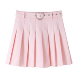 Pink / White Pleated Skirt AD11560